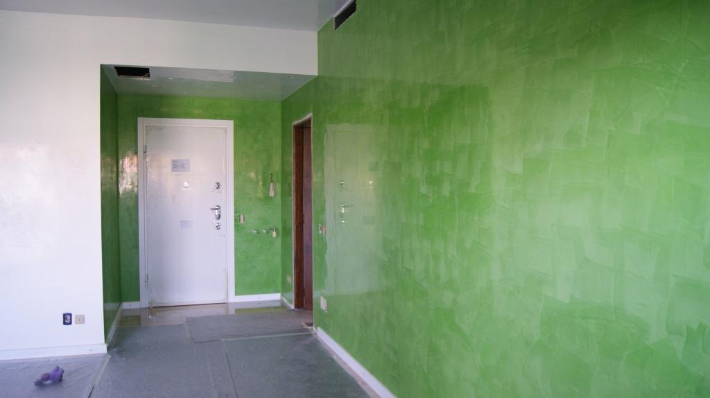spatolato veneziano, stucco veneziano verde