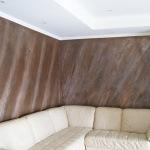 Cartongesso con parete decorata