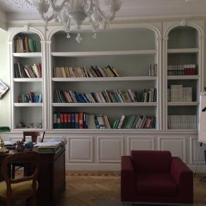 decori in gesso, cartongesso Milano e provincia, libreria in cartongesso Milano