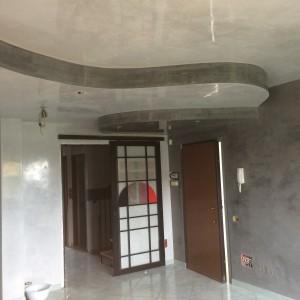 Spatolato lucido soffitto