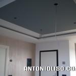 cartongesso in sala, imbiancatura decorata, strutture in cartongesso