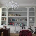 Libreria in cartongesso per soggiorno, parete in cartongesso, opere in cartongesso