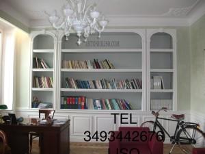 Libreria in cartongesso per soggiorno, parete in cartongesso