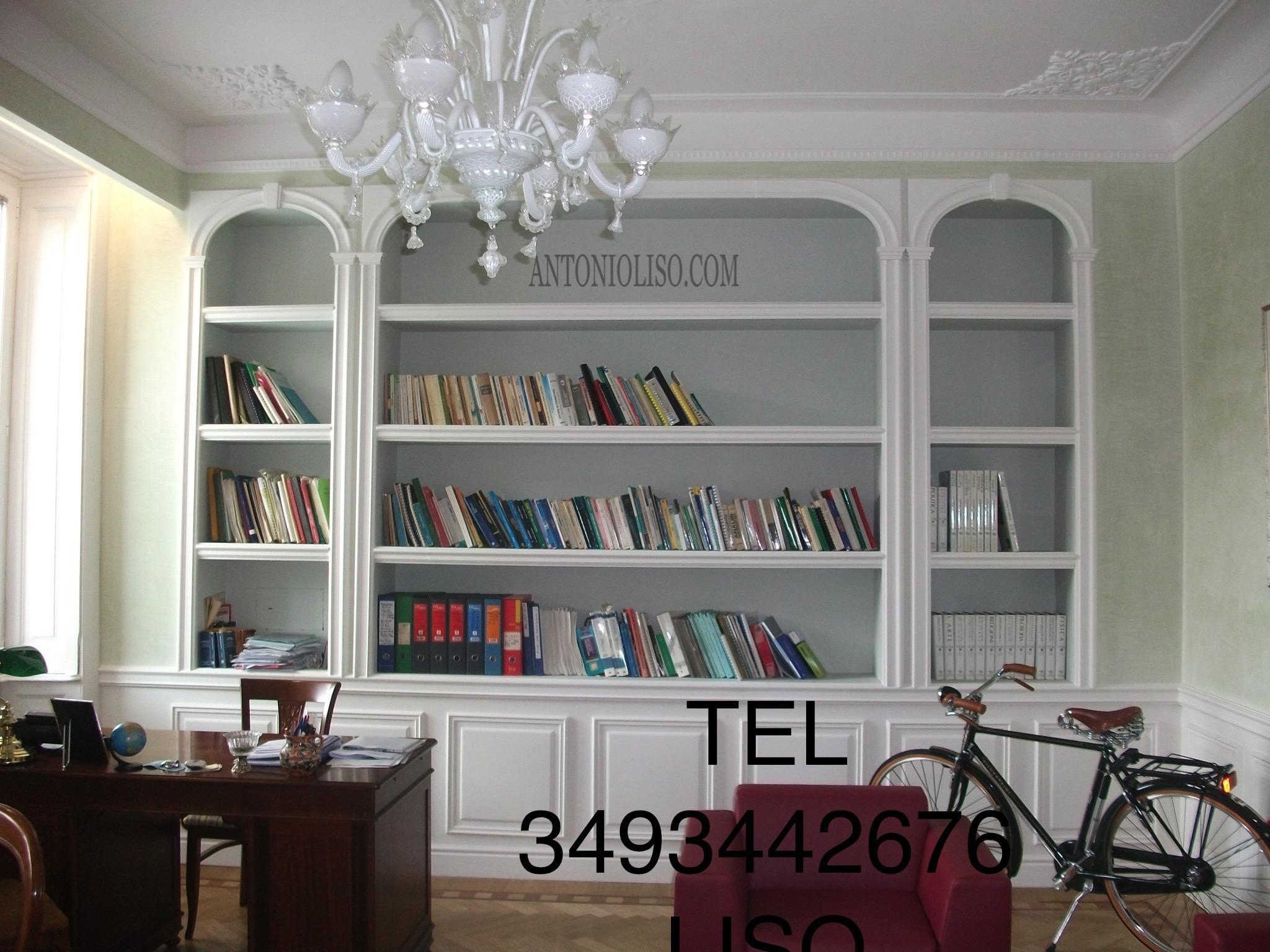 Libreria in cartongesso per soggiorno, parete in cartongesso , cartongesso prezzo