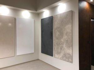 show room Antonio Liso immagini di 4 pannelli decorati, tinteggiare a calce