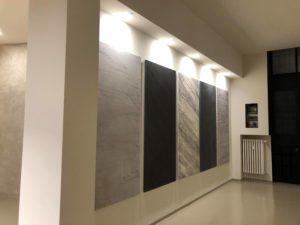 show room Antonio Liso immagini pannelli decorazioni