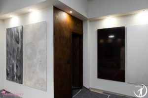 Showroom Antonio Liso, spatolato colori