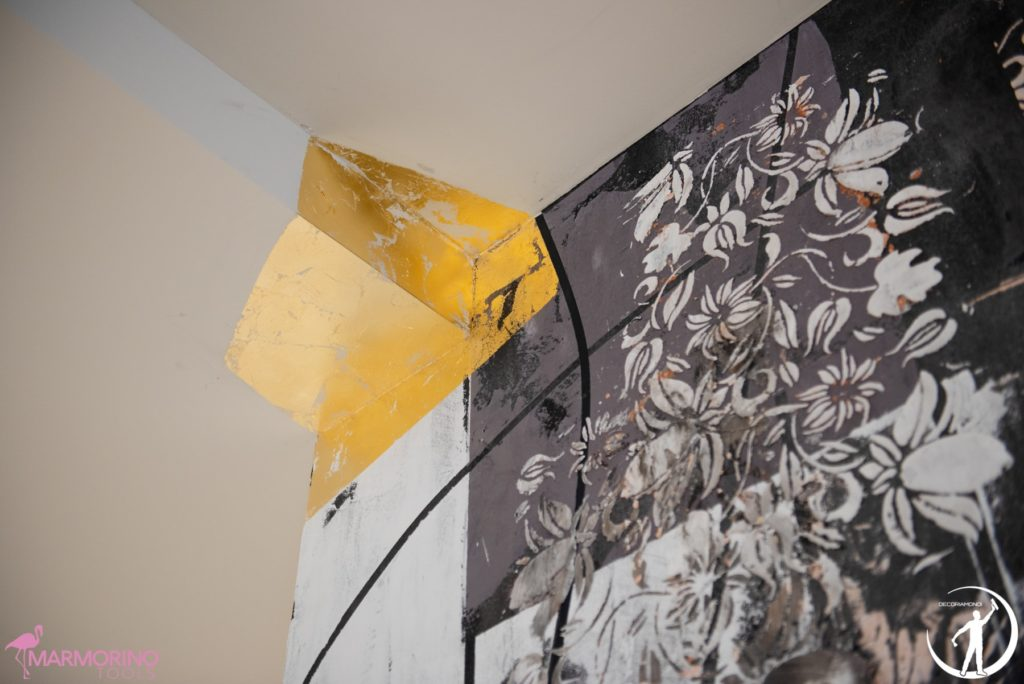 Foglia oro e stencil, masterclass
