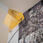 Foglia oro e stencil, masterclass, soggiorno moderno