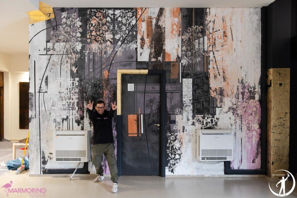Imbianchino Milano Antonio Liso parete decorata