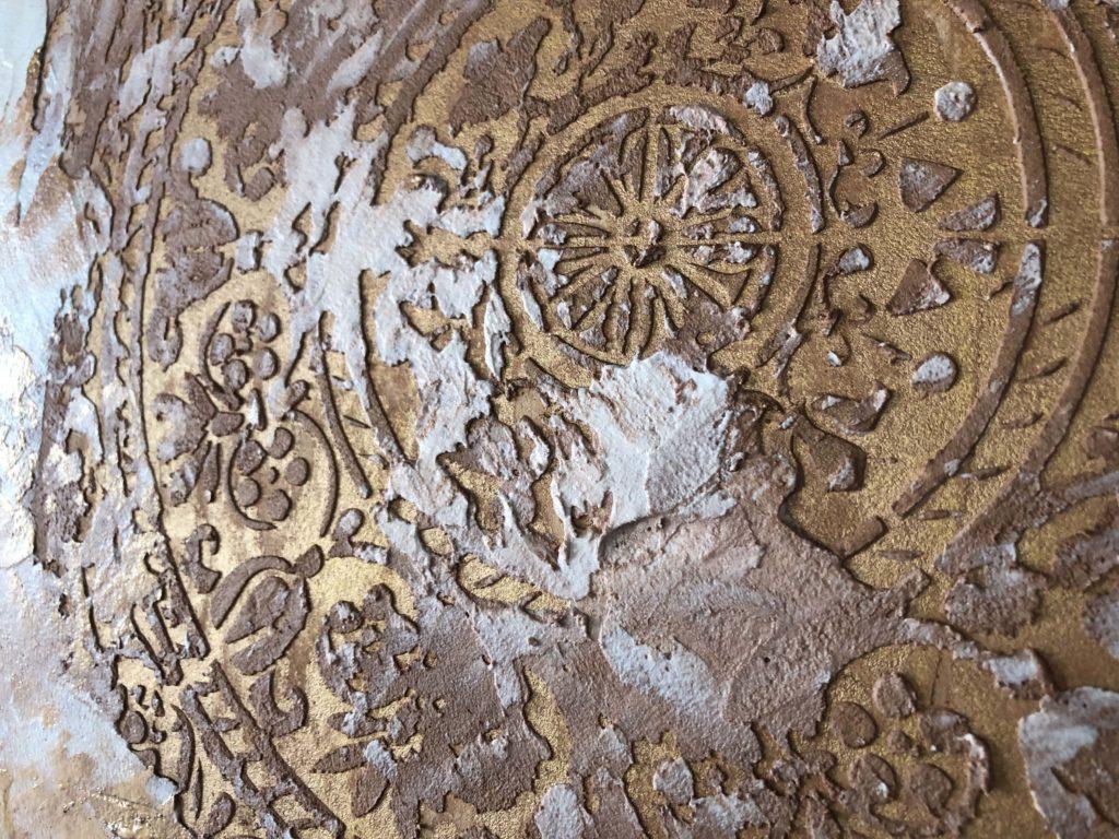 Stencil, calce veneziana